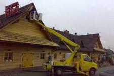 zwyżka w miejscowości Komorów koło Pruszkowa